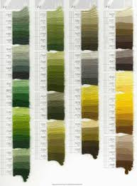 Green Shade Chart 12 Methodical Dmc Tapestry Wool Colour Chart