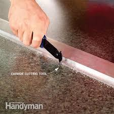 close up of carbide cutting tool