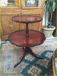 vintage round mahogany wood 2 tier pie table duncan phyfe style feet twotiertable