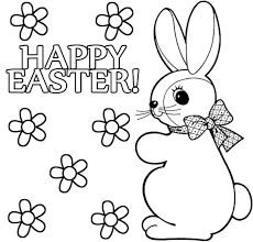 Simple Easter Bunny Coloring Pages Printable Coloring Page For Kids