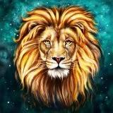 Oly LA052-1 Lion <b>50x50cm</b> Round <b>diy diamond</b> drawing animal ...