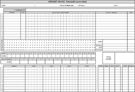 Cricket Score Card Format Printable Cricket Score Sheets Download In Pdf