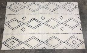 details about pottery barn kids black delaney rug 5x8 authentic