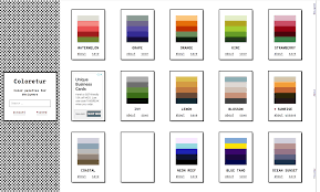 Colour Swatches For Designers Designing Coloretur A Colour Palette Website Shelley Bassett