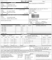 bill of loading vics bill of lading for shipment layout
