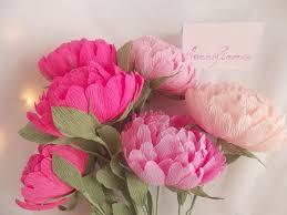 Peony Paper Flower Wedding Flowers Bridal Bouquet Wedding Peony 6pcs Paper