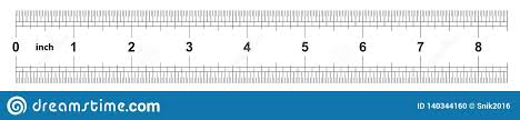 Ruler 8 Inches Imperial The Division Price Is 1 32 Inch