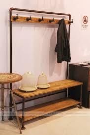 Coat Rack Cabinet Iron do the old retro rusty iron imitation wood coat rack cabinet 31