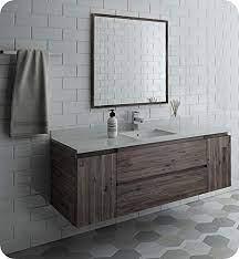 Amazon Com Fresca Formosa 60 Wall Hung Single Sink Modern Bathroom Vanity W Mirror Kitchen Dining