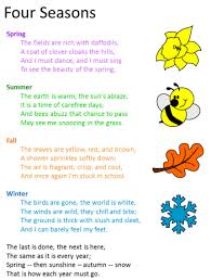four seasons poem by cecil frances