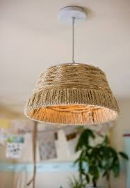 diy project woven rope pendant lamp