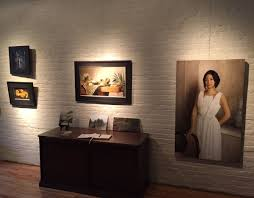 artists studio lighting. A Wall Of Well-lit Paintings Creates Gallery-like Atmosphere In The StudioOn Artists Studio Lighting P