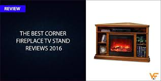 corner tv stand with gas fireplace white oak