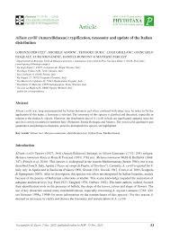 (PDF) Allium cyrilli Ten. (Amaryllidaceae): typification, taxonomy and ...