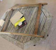 old garden furniture teak table