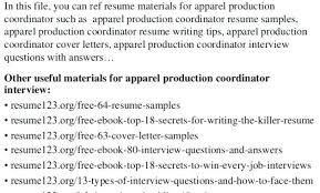 Production Coordinator Cover Letter Production Coordinator Cover