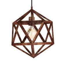 embleton antique copper geometric pendant