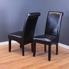 monsoon milan black fauxleather dining chairs set of 2 faux leather dining chairs f3