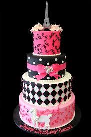 Paris Birthday Cakes