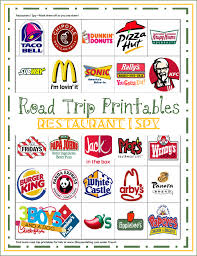 road trip printables for kids restaurant i spy and check out the links on the page to more fun travel activities and ideas for that long drive to disney