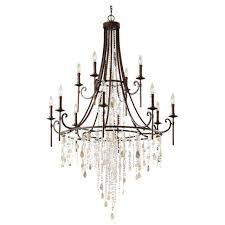feiss lighting f2661 8 4htbz cascade chandelier heritage bronze