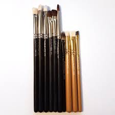 lot of 10 orted mac eye makeup brushes muabs and sell makeup