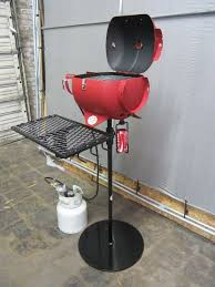 itty bitty grill upcycled propane tank outdoor mini barbecue grill propane by bloxfabrications on