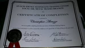 Certificate Of Completion Training Enchanting HVACR Service Technician Certificate Of Completion Yelp