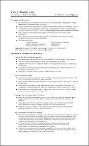 ... licensed practical nurse resume objective sample ...