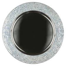 silver celebrity metal charger plate by chair covers linens