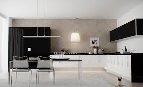 Black White And Grey Kitchen Light Grey Full View Kitchen