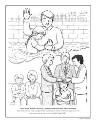 Mormon Share Baptism Confirmation Coloring Page Church Ideas
