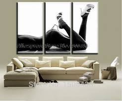 hand painted abstract nude female body paintings for living room wall canvas 5 panel modern art oil picture sets on 3 piece wall art set with handpainted nude girl oil painting on canvas modern abstract
