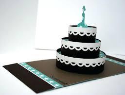 Birthday Cake Card Template Blackampersandco