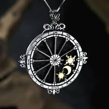 Custom Birth Chart Necklace Personalized Trinity Talisman Silver And Gold