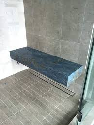 ideas freestanding stone shower bench photo of innovation at home ca united states custom with a floating