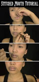 best ideas about haunted house makeup horror this quick stitched mouth halloween makeup is not worth missing
