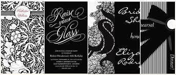 Stylish Black White Dinner Party Invitations