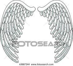天使翼 クリップアート切り張りイラスト絵画集