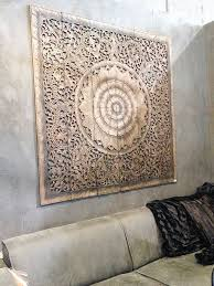 wood carving wall art panel