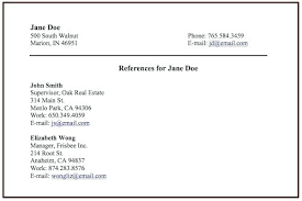 putting references on a resume how to do references on a resume how to include  references