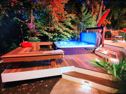 Outdoor Jacuzzi In Ground Hot Tub Design Ideas Pictures Remodel And Decor