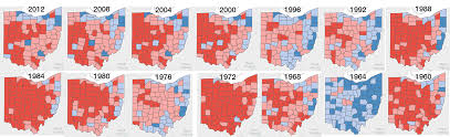 presidential elecion results ohio presidential election results 1960 to 2016 county details
