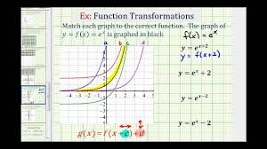 ex match the graphs of translated exponential function to equations