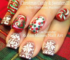 DIY Christmas Sweater Nail Art | Xmas Drag Marble Candy Nail ...