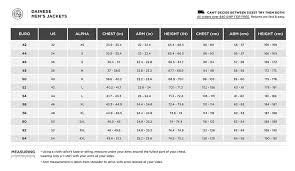 Image Result For Dainese Suit Size Chart Men Marjanbikers