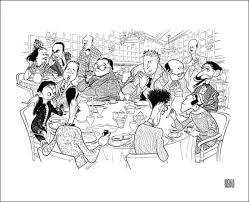 reliving the algonquin round table through the eyes and pen of al hirschfeld