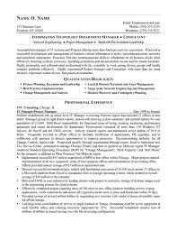 Consulting Resume New IT Consultant Resume Ex Network Manager Information Technology