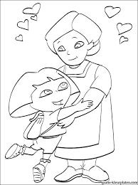 Dora Met Oma Kleurplaat Gratis Kleurplaten