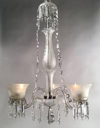3 light crystal gas chandelier